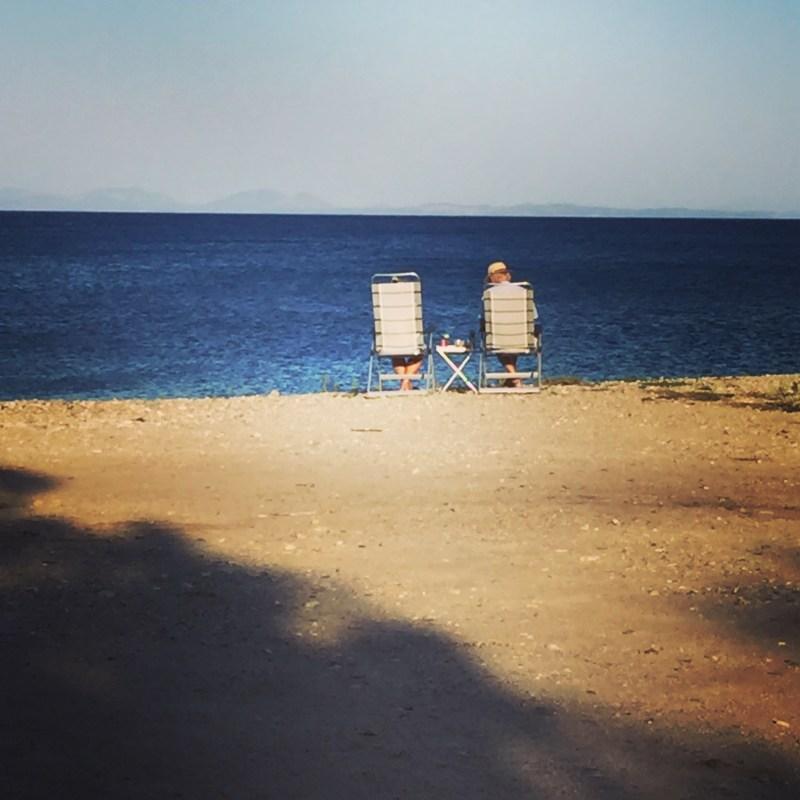 Chilling on the beach, Paralia Agiou Andrea - Greece