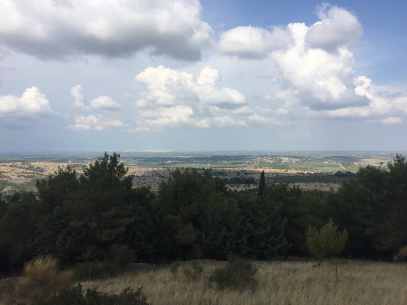 Our leap of faith view from Castel del Monte, Italy