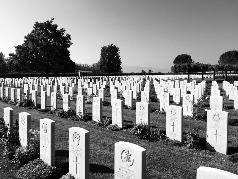 War graves at Monte Cassino, Italy