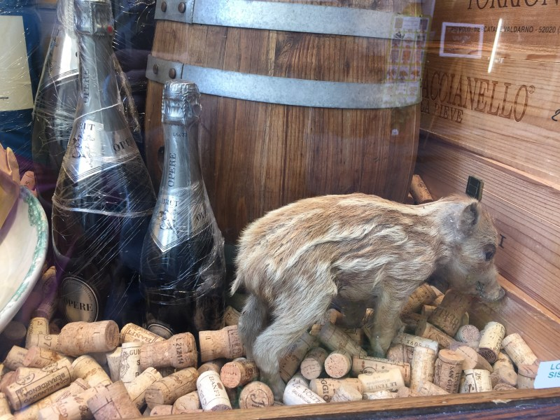 Window shopping for wine in Italy