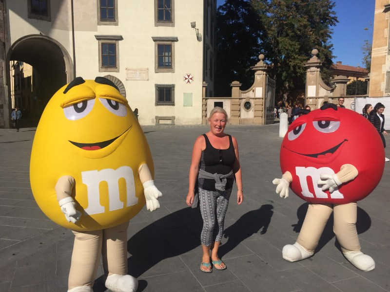 M and M's Pisa, Italy by motorhome