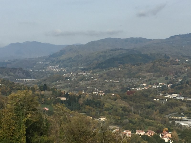 View of the valley from the Fortress Castelnuovo di Garfagnana, Italy - epic motorhome blog
