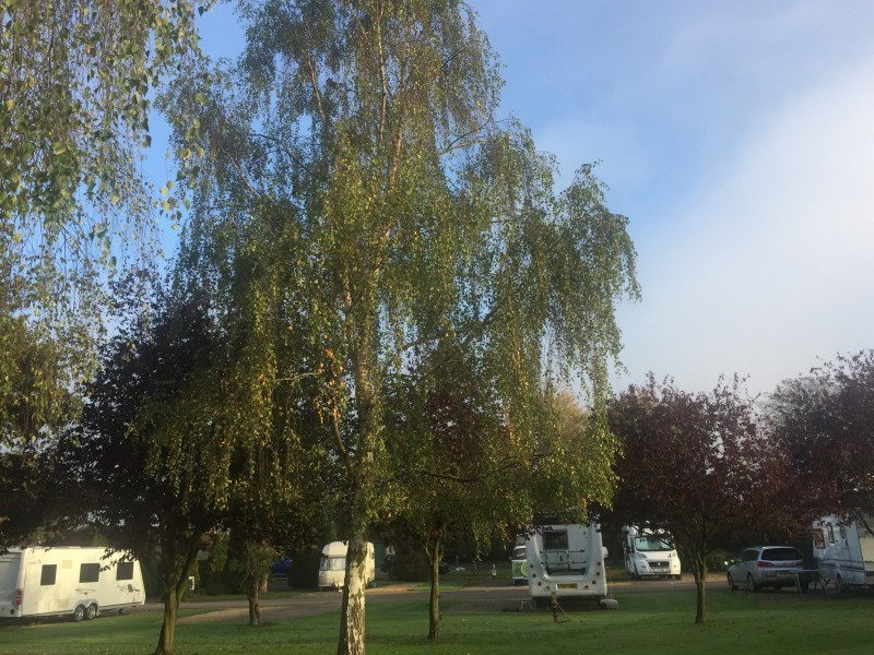 Beautiful green views from the best caravan and campsite in Cheltenham