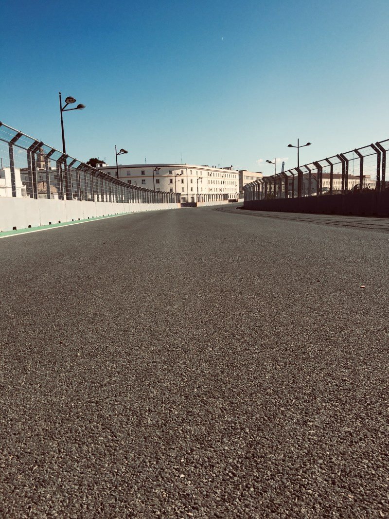 All that remains of the Valencia F1 track is tarmac and paint- motorhome travels by urban explorers ourleapoffaith