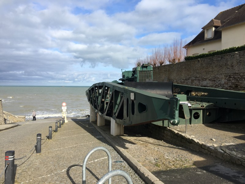 Arromanches-les-Bains by motorhome, our leap of faith visits gold beach - the last bridge