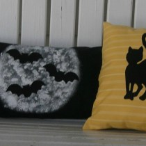Bat and Cat Pillow