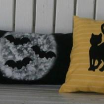 Bat and Cat Pillow