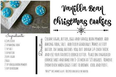 Vanilla Bean Christmas Cookie Recipe. www.ourlifeinspired.com