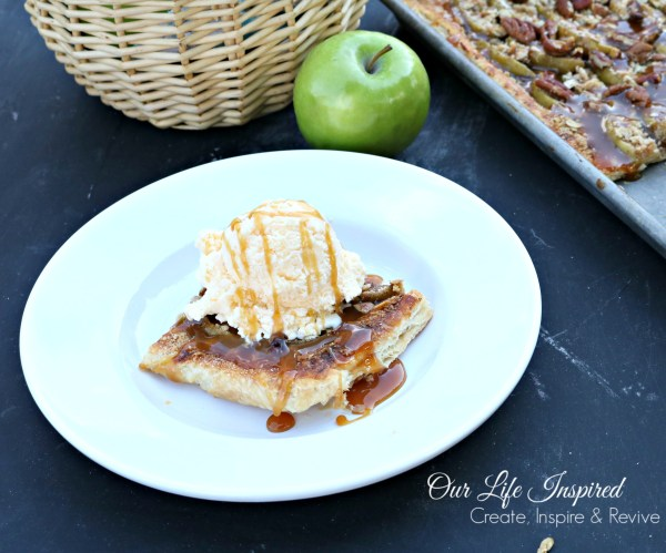 Caramel Apple Tart | www.ourlifeinspired.com