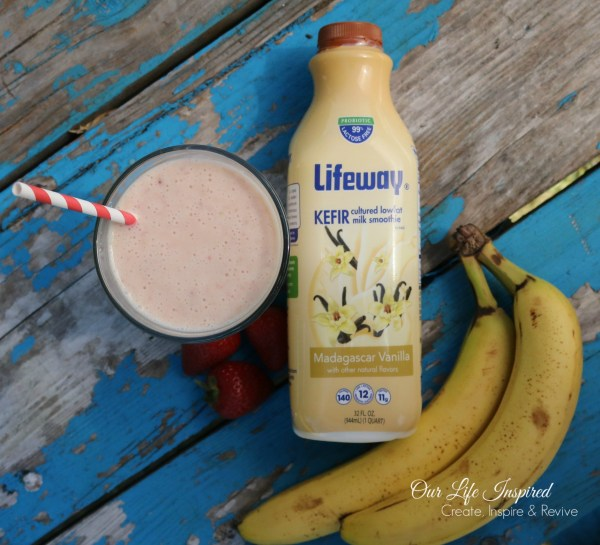 Kefier Strawberry Banana Smoothie | Our Life Inspired