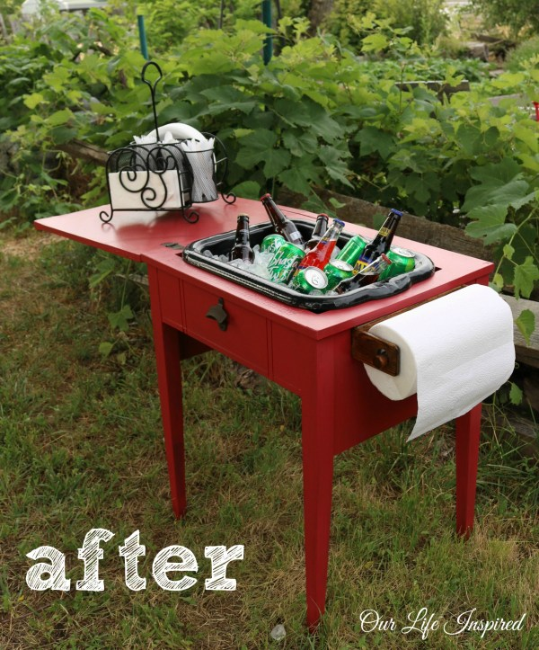 Sewing Table Remake- After | www.ourlifeinspired.com