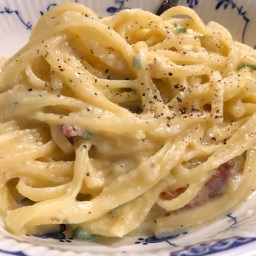 Carbonara with Bacon.