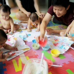 Sensory Play for Babies with Edible Paint