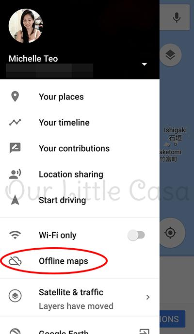 Offline Maps in Google Maps - Driving Overseas
