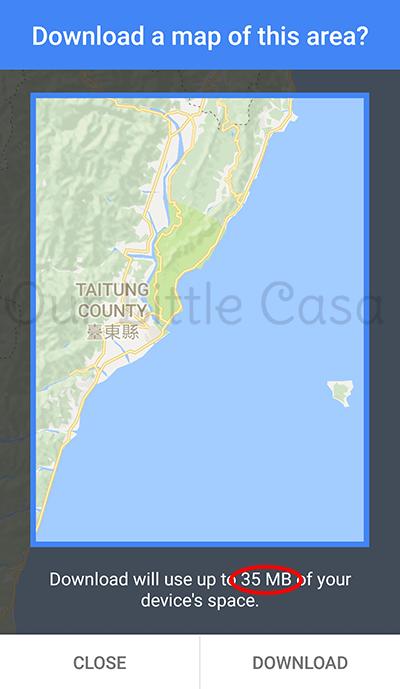 Download Offline Map on Google Maps - Driving Overseas