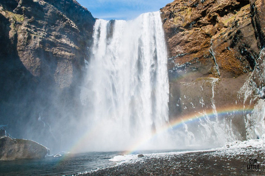 Islandzki Wodospad Skogafoss