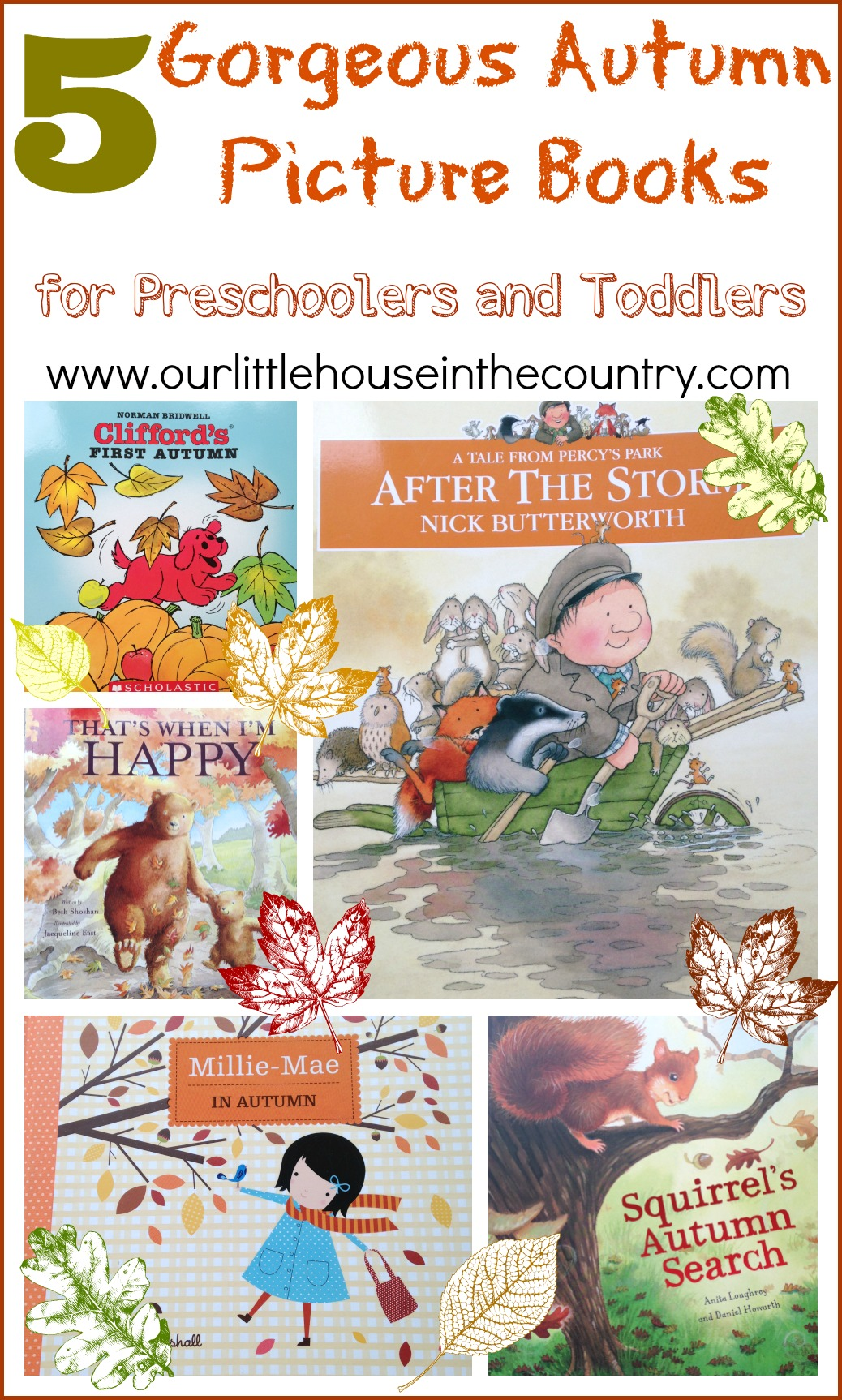 5 Autumn Fall Books For Preschoolers