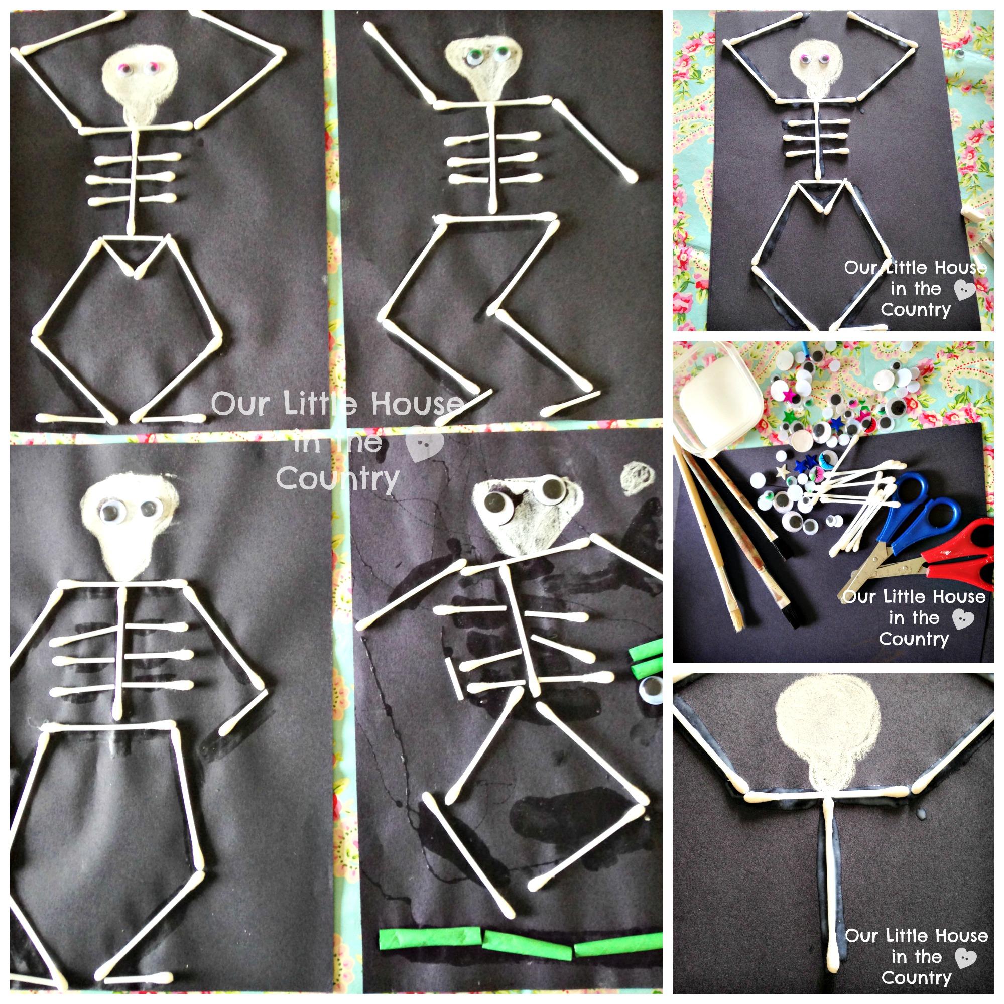 Dancing Skeletons Cotton Bud Skeletons