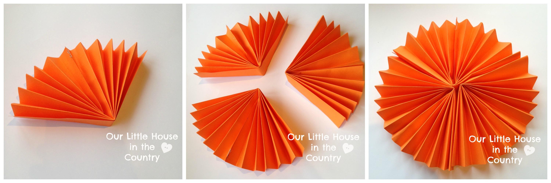 paper fan pumpkin decorations