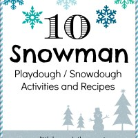 10 Snowman Playdough/Snowdough Activities (including our snowdough recipe)