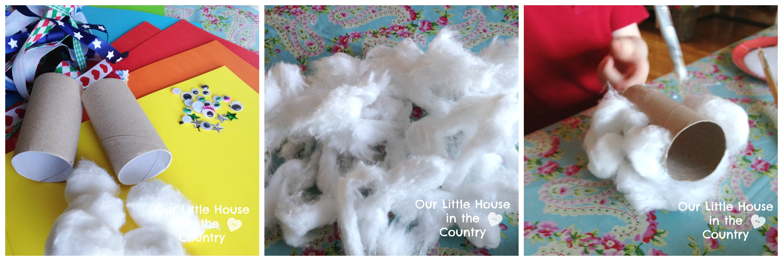 Toilet Rolls And Cotton Wool Snowmen A Preschool Winter Craft