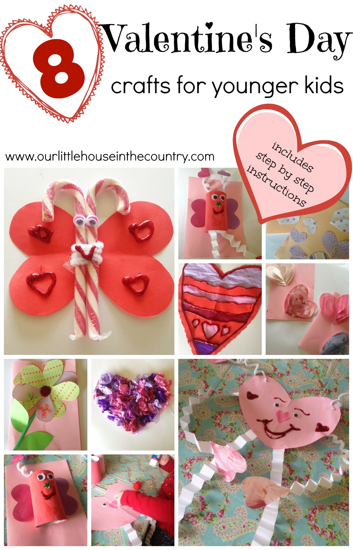 Valentine S Day Crafts For Younger Children Preschool And Early Primary Kindergarten