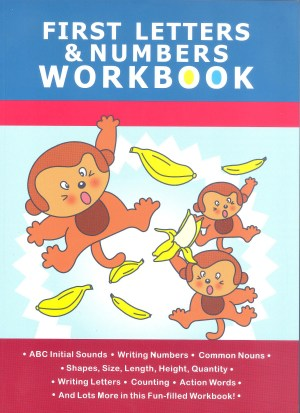 First Workbook Series - First Letters and Numbers Workbook (Kid's Educational Books)