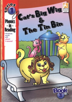 Phonics in Reading Series 1: Book 3 - Cat's Big Wig & the Tin Bin (Kid's Educational Books)