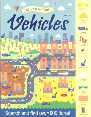 Search And Find Book - VEHICLES (Kids Activities)