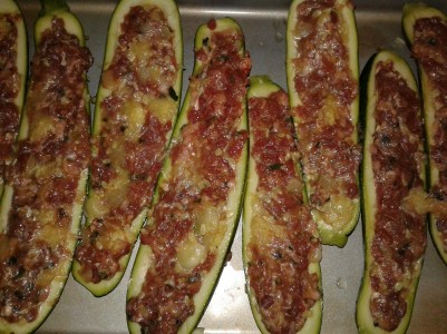 Stuffed Zucchini Mixture