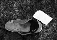 Lost soles inside and out.
