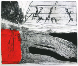 drypoint-collagraph-chine-colle
