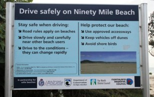 Driving instructions for the beach