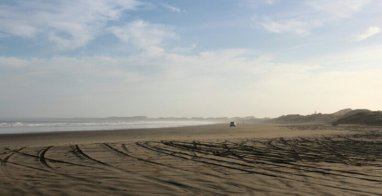 Endless Ninety Mile Beach in the morning