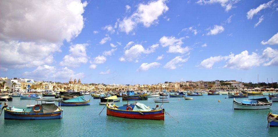 Marsaxlokk : le plus grand port de pêche de Malte.
