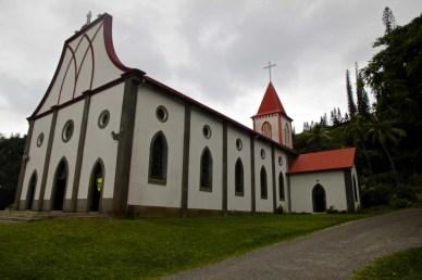 L'église fut construite en 1860 avec l'aide des bagnards exilés sur l'île