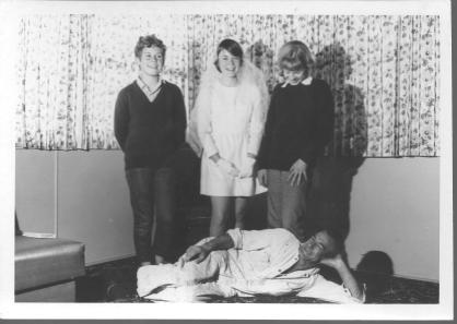 John Andrews Kerrie Julie and Ross lying down 1969