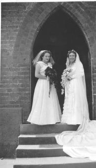 Norma Tuckerman Joan Lois Adams (Callcott) Wedding of Joan 1953