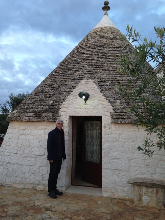 Roger outside Trullo