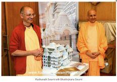 HH Radhanath Swami with HH Bhakti Vijnana Goswami