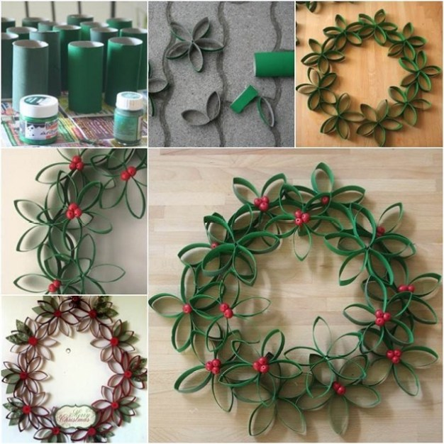 diy-christmas-wreath-from-paper-rolls