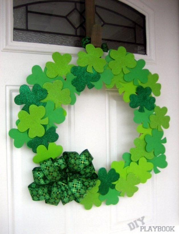 diy st patrick's day decorations wreath