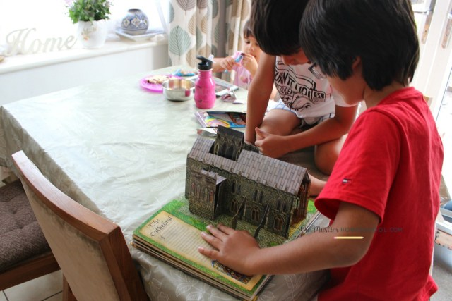 Medieval history pop up book for kids