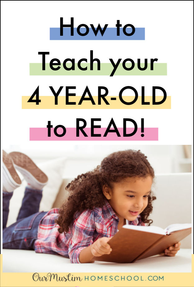 How to teach your 4 year old to read. Resources, books, online programmes and tips to help your 4 year old learn to read.