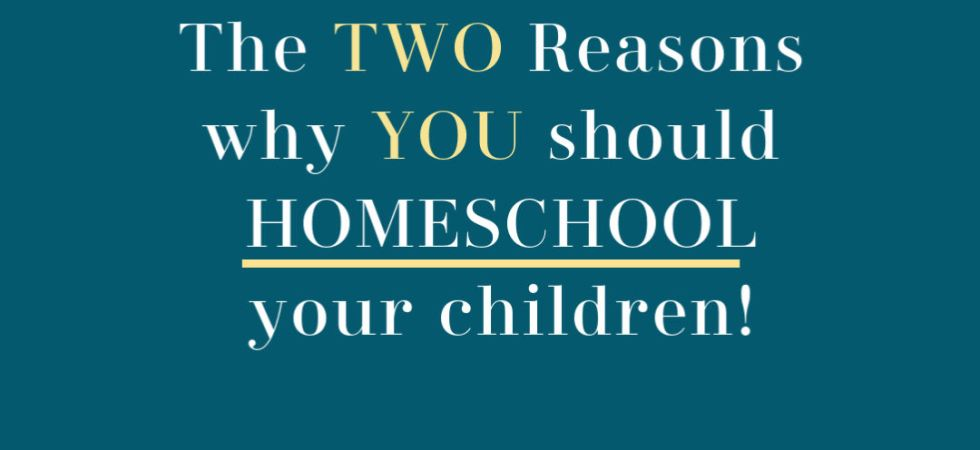Reasons why your should homeschool your children