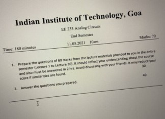 Frame your own Questions, Answer them, Get Marks: IIT Goa's unique method to evaluate students