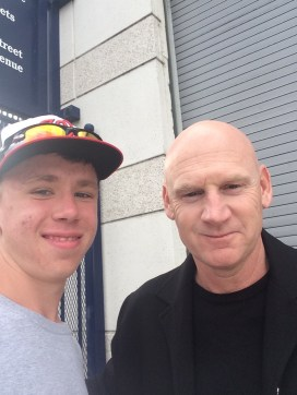 My own selfie with the Nationals manager Matt Williams