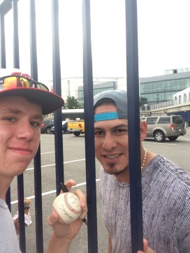 A selfie with Wilson Ramos who had just caught Jordan Zimmermann's no-hitter