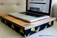DIY Lap Desk with Hand-Stamped Legend of Zelda Fabric (DIY ...