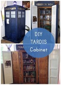 This TARDIS Bookshelf DIY is Actually Bigger on The Inside ...